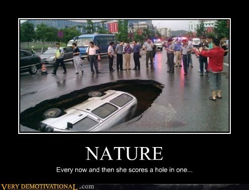 hole in one nature Pure Awesome - 6317950208