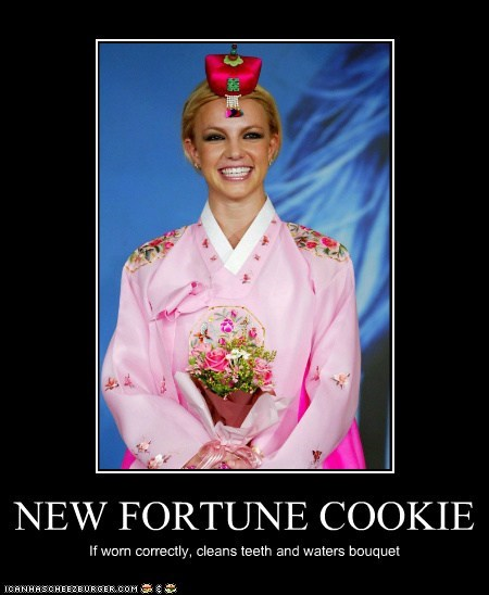 NEW FORTUNE COOKIE If worn correctly, cleans teeth and waters bouquet