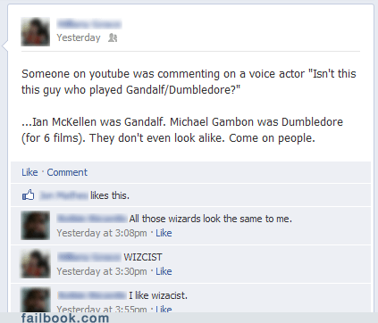 dumbledore,gandalf,racist,wizards,youtube