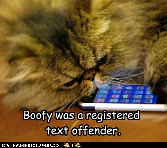 Boofy was a registered text offender.