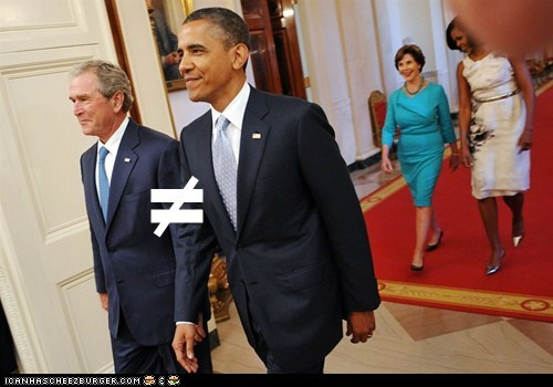 barack obama,george w bush,political pictures