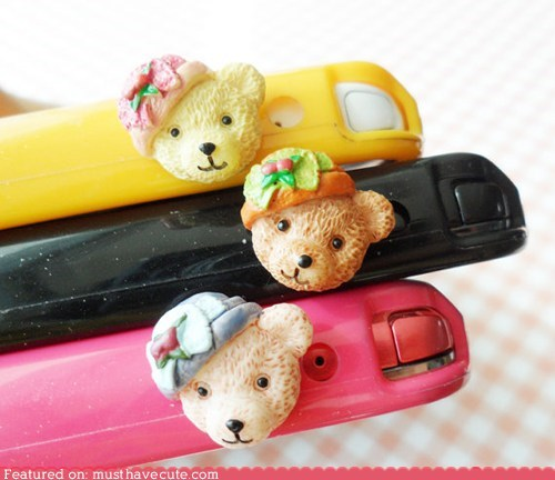 bear cell phone headphone jack phone plug - 6319095552