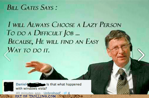Bill Gates facebook quotes Windows Vista - 6319109120