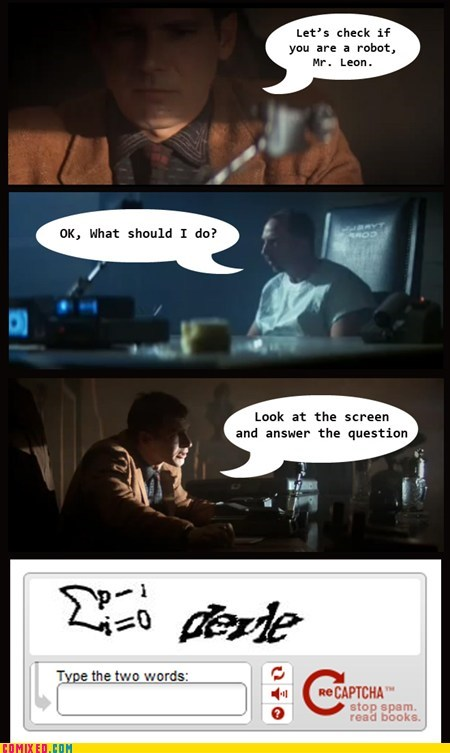 Blade Runner captcha From the Movies movies robot test - 6319436800