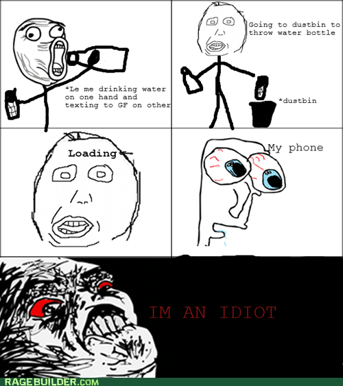 dumb phone Rage Comics raisin rage trash water - 6320006912