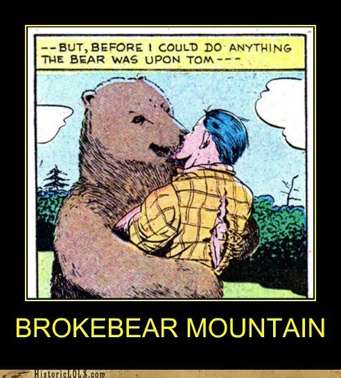 attack bear brokeback mountain comic historic lols KISS - 6320096256