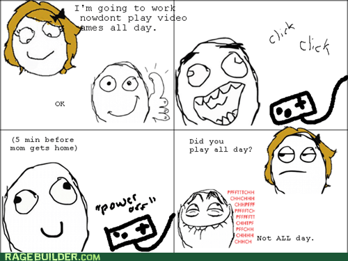 parenting pfftch Rage Comics video games