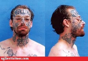 face tattoos mugshot tattoo tattoo