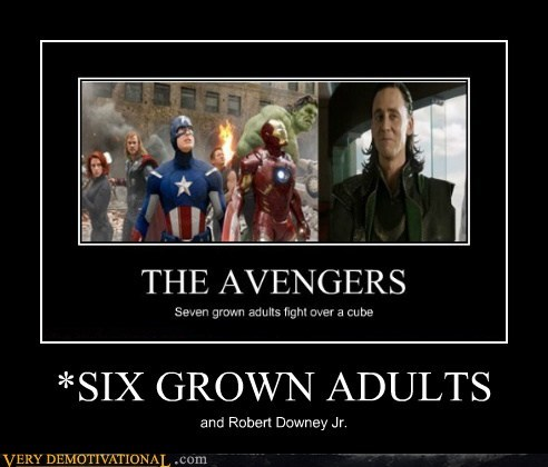 *SIX GROWN ADULTS and Robert Downey Jr.
