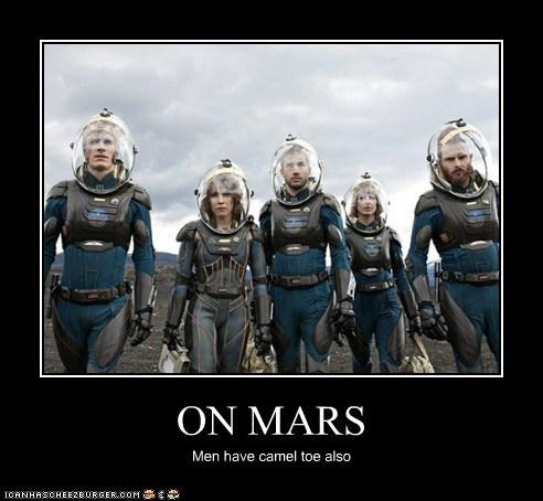 Aliens camel toe david Elizabeth Shaw Mars men michael fassbender Noomi Rapace prometheus spacesuits - 6320473344