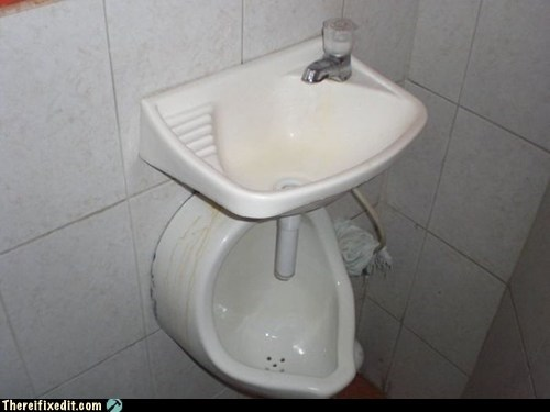bathroom Hall of Fame restroom sink there I fixed it toilet urinal - 6320503552