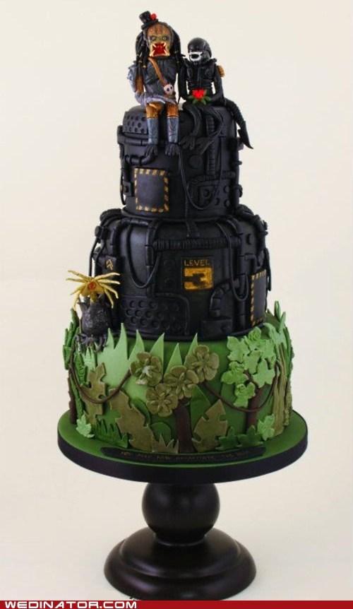 alien cakes funny wedding photos geek sci fi wedding cakes - 6320646144