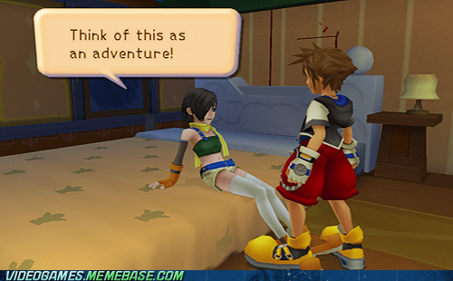 gameplay,innuendo,kingdom hearts,Sora,yuffie