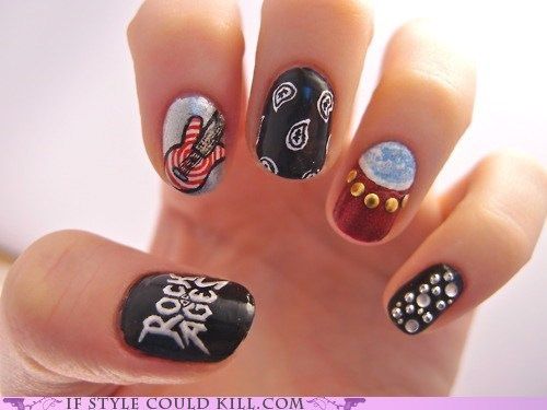 cool accessories Music nails rock of ages - 6320726272