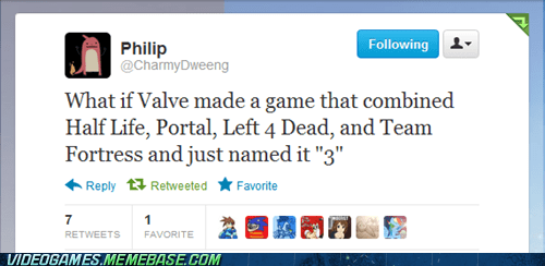 3 sequels the internets twitter valve video games