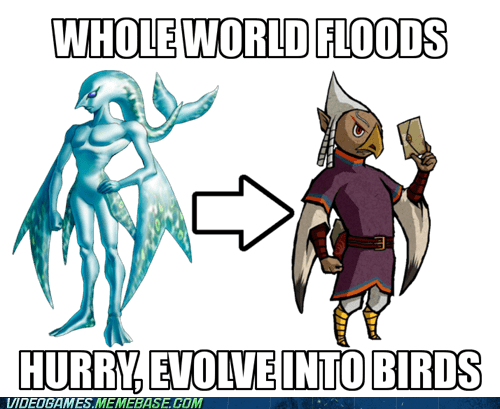 birds,evolution,zelda,zora