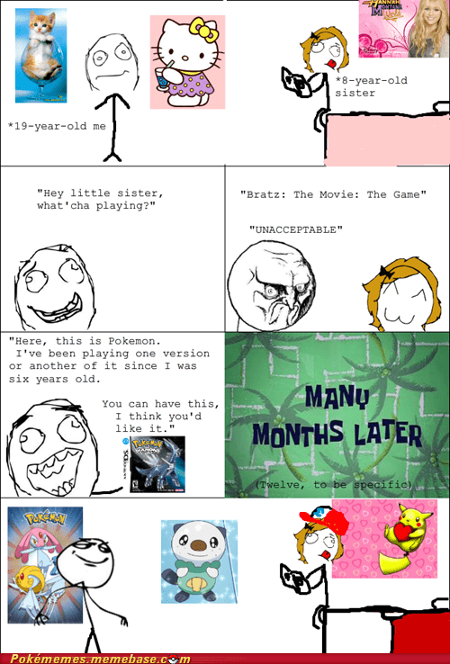 childhood,Pokémon,Rage Comics,siblings,sister