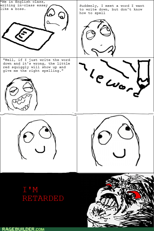 Rage Comics,raisin rage,spell check,word