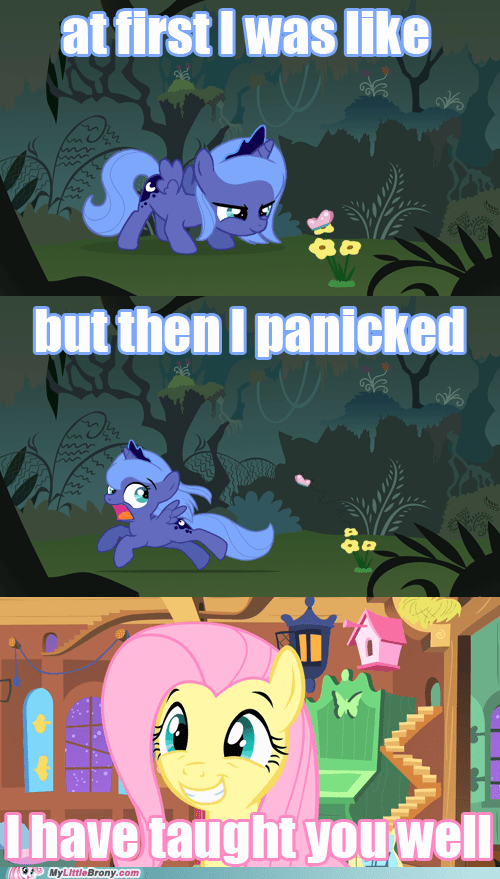 comic comics cute filly fluttershy luna - 6320982016