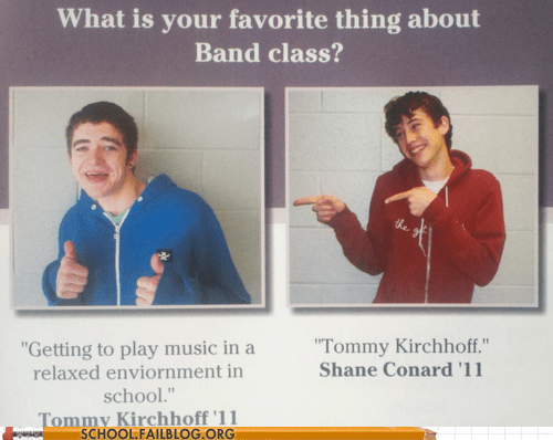 band class tommy kirchoff yearbook club