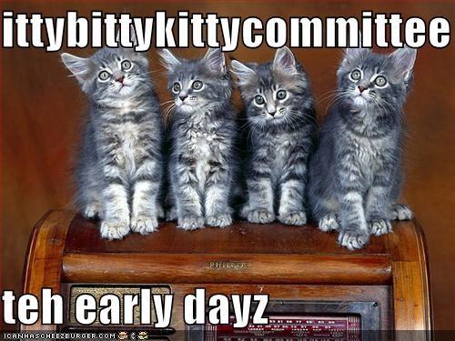 ittybittykittycommittee  teh early dayz