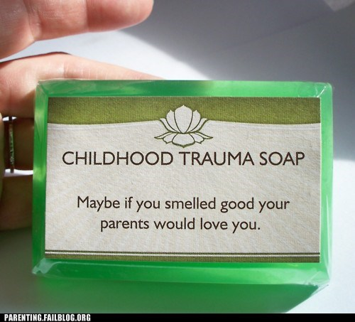 bar of soap,childhood trauma,smell good