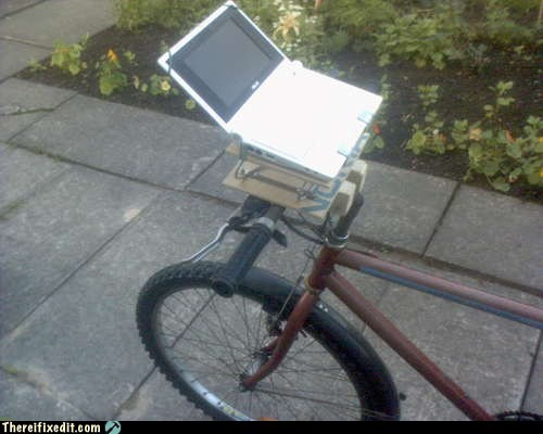 apple,bicycle,bike,bike with laptop,laptop,macbook