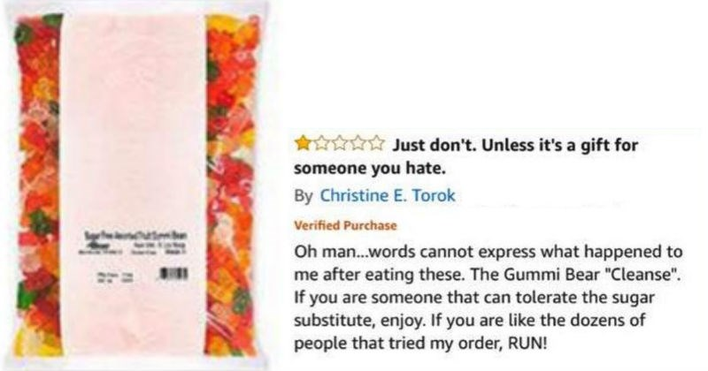 amazon review for gummi bears