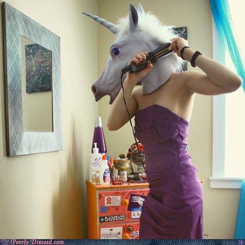 dress,hair,mask,prom,unicorn