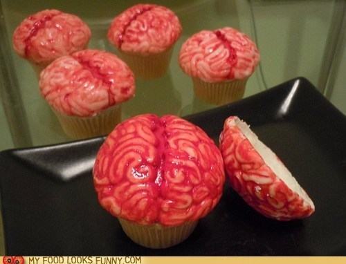brains cupcakes toppers zombie - 6321175296