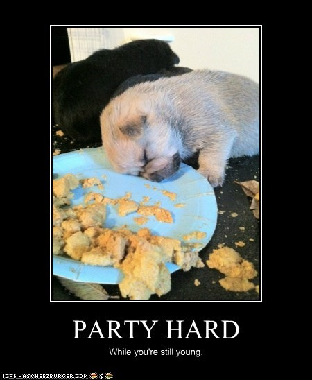 PARTY HARD While you're still young.