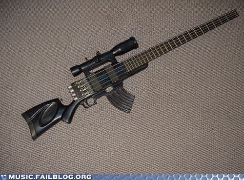 bass bass guitar design gun