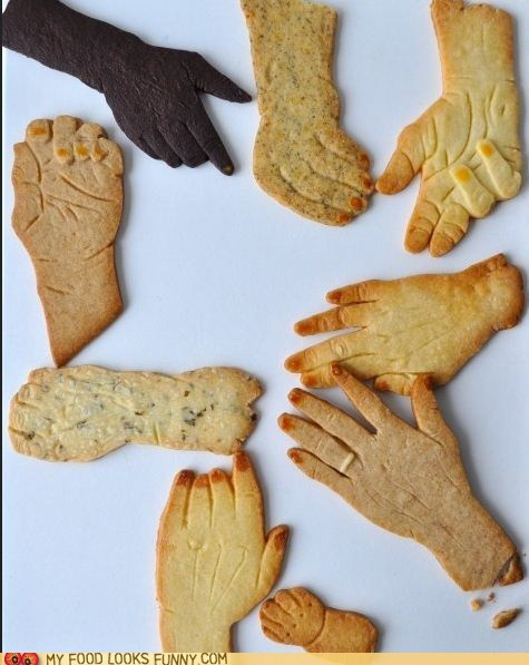 art,cookies,crackers,creepy,hands,pretty