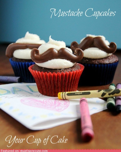 chocolate cupcakes epicute frosting mustaches - 6321303296