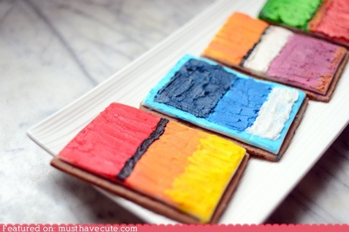 art cookies epicute frosting icing painting rothko - 6321307904