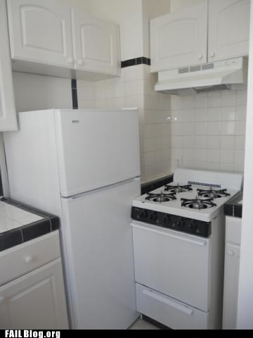 apartment appliances oven refrigerator