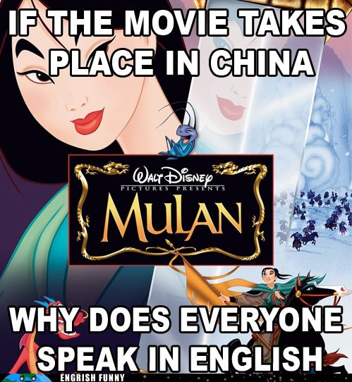 america,China,chinese,disney,english,mulan,usa
