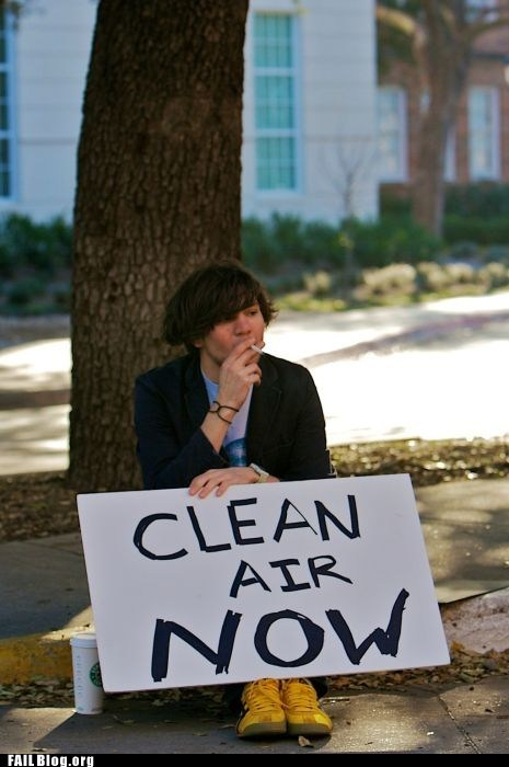 clean air fail nation g rated Protest sign smoking - 6321440768