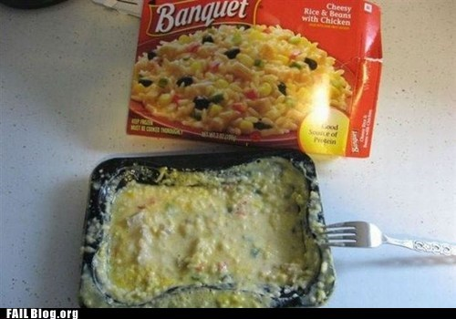 banquet frozen dinner microwave meal - 6321464320