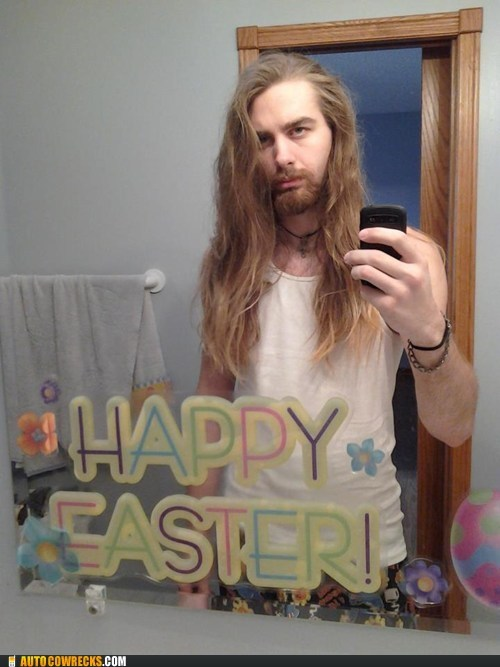 creepy,happy easter,self poortraits