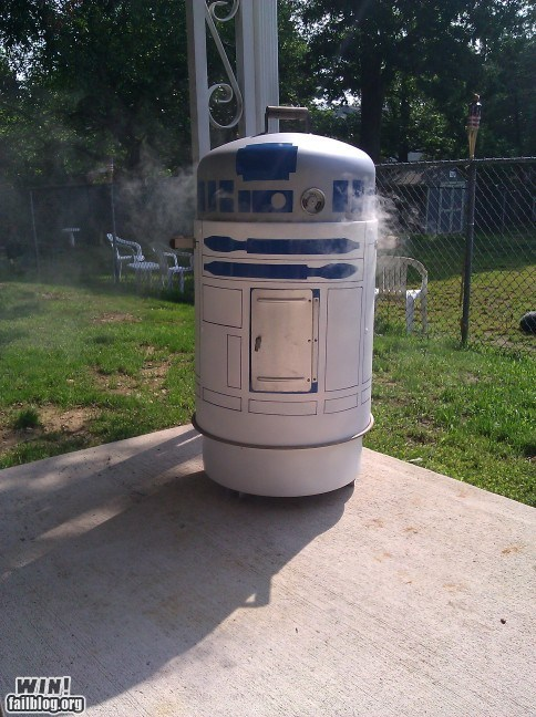 barbecue cooking grill nerdgasm r2d2 summer - 6322131456