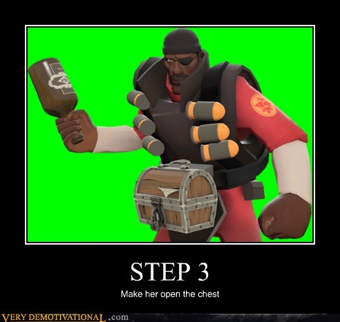 STEP 3 Make her open the chest