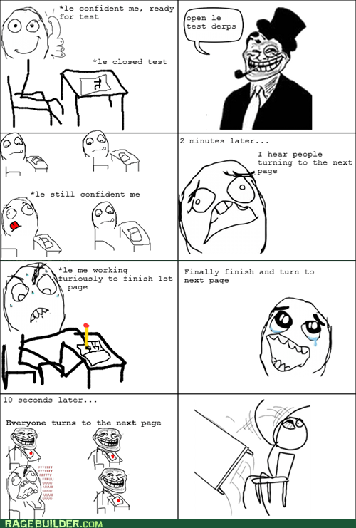 Rage Comics table flip test truancy story - 6322425088