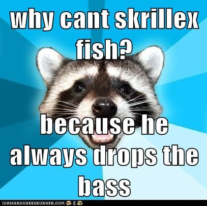 why cant skrillex fish? because he always drops the bass