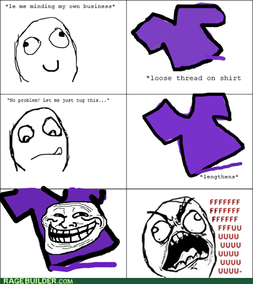 fu guy,Rage Comics,shirt,thread