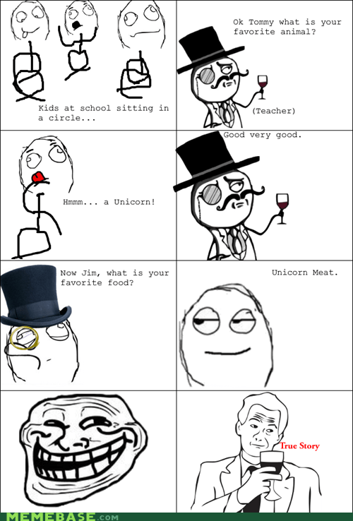 troll face,true story,unicorn
