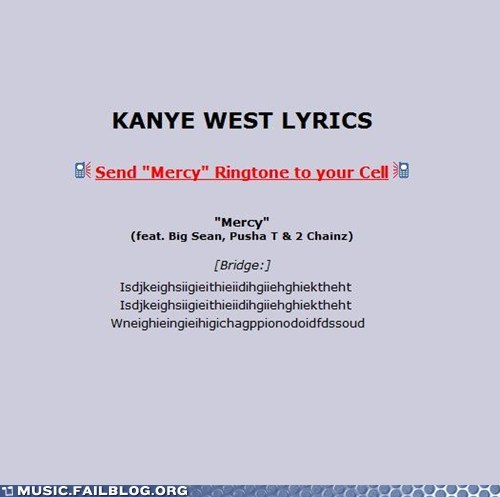 hip hop kanye west lyrics mercy - 6323634432