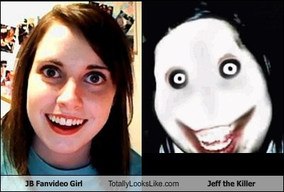 funny jeff the killer meme overly attached girlfrien overly attached girlfriend TLL - 6323831808