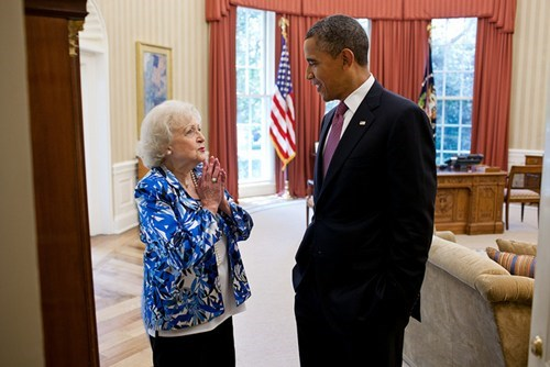 betty white,obama,POTUS pic