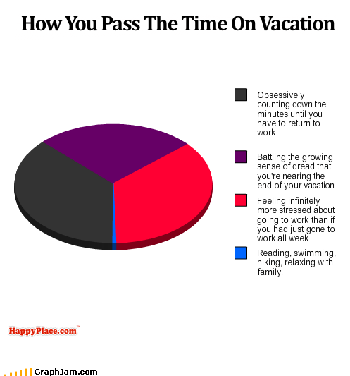 Pie Chart relaxation stress time vacation work